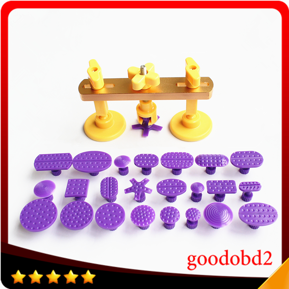 Bridge Dent Puller Kit Auto Body Dent Removal Tools Pops Dent & Ding PDR Tools Car Repair with 24pc Different Size PDR Glue Tabs цены
