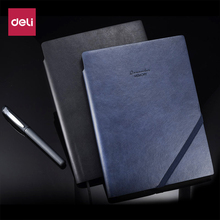 Deli classic soft PU leather cover business notebook for school office writing supply