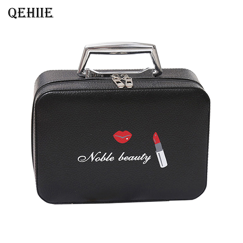 Fashion Girl Cosmetic Makeup Case Large Capacity Professional Makeup Artist Suitcase Woman Organizer Beauty Bags Gift Essential