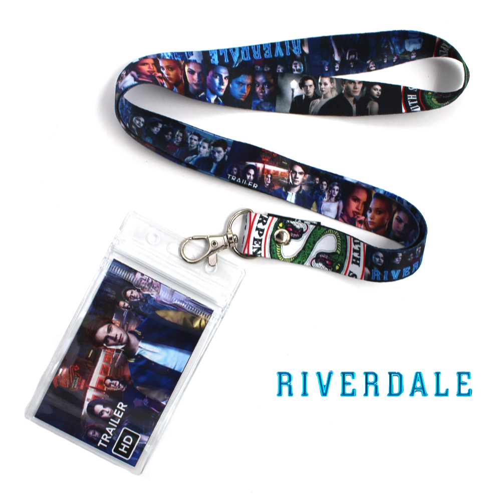 Riverdale Archie Betty Serpents Symbol Phone Rope Strap Charm Lariat Lanyard Keychain+ID Credit Card Protector Case Cover Sleeve
