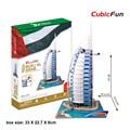 MC101 Burjal-араб Hotel Dubai Cubicfun 3D Головоломки Игрушки, архитектурные Особенности Вкус Головоломки 3D Модель, рождественские Подарки Детские Игрушки
