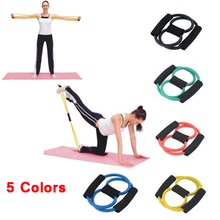 2016 New High Quality Fitness Resistance Bands Resistance Rope Exerciese Tubes Elastic Exercise Bands for Yoga