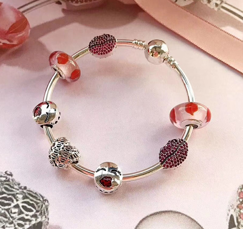 Popolare di Buona Qualità Da Viaggio Regalo A Tema 925 sterling silver cuore di viaggio del braccialetto per le ragazze