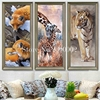 Tiger Long Deer Foxs Mosaic Full Square Diy Diamond Painting Icon Home Decoration 5D Diamond Embroidery