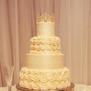 Image 5 - 1PC 티아라 골드 컬러 크라운 케이크 토퍼 장식 장식 우아한 웨딩 케이크 공주 생일 Decoratio 파티 용품 A3