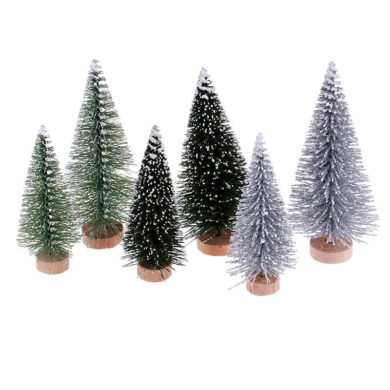 2pcs/Set Pine Needle Deco For Dollhouse Miniature Christmas Tree Craft Fairy Garden Miniature Terrarium