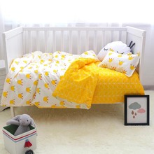 3 pcs/set 100% Cotton Classic Crown Baby Cot Bed Linens Baby Crib Bedding Set Including Bed Sheet Duvet/Quilt Cover Pillowcase(China)