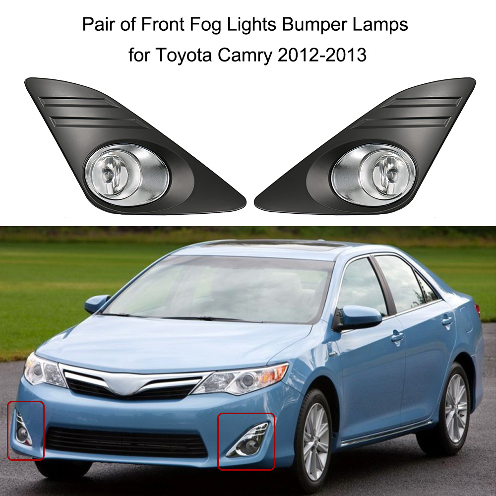 Car-styling Fog Lights for Toyota Camry 2012-2014  Pair of 12V 55W Front Fog Lights Bumper Lamps Daytime Running Lights car styling pair of 12v 55w front fog lights bumper lamps for toyota corolla 2013 2014