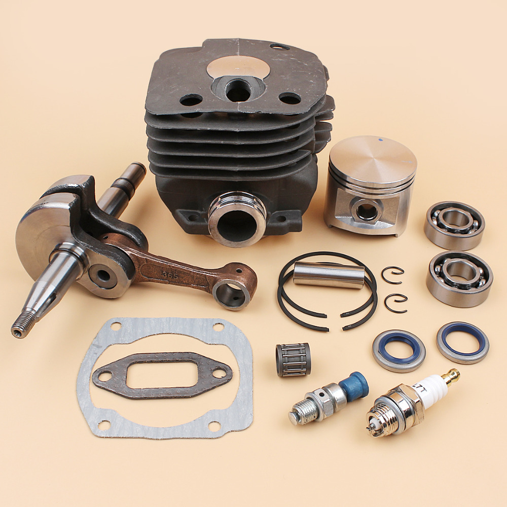 Cylinder Head Piston Crankshaft Bearing Seal Motor Kit Fit Husqvarna 372XP 372 371 365 362 (50MM) Chainsaw Overhaul Engine Parts