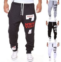 Mens Joggers Pants 2017 Brand Male Cargo Pants Slim Letters Printed Tights Trousers Compression Men Jogger