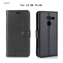 HUDOSSEN For LG G8 ThinQ G820 Case Luxury PU Leather Back Cover For LG G8 ThinQ Case Flip Protective Phone Bags Skin Para стоимость
