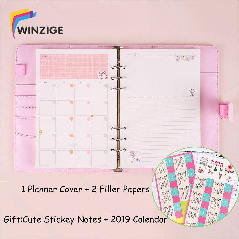 Winzige Macaron A5 A6 de cuero espiral Binder cuaderno Kawaii Bloc de notas Agenda bala diario, planificador, papelería lindo