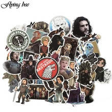 Flyingbee 61 Pcs Game of Thrones Waterproof Stickers Kids Toy Sticker for DIY Luggage Laptop Skateboard Car Phone Decal  X0052