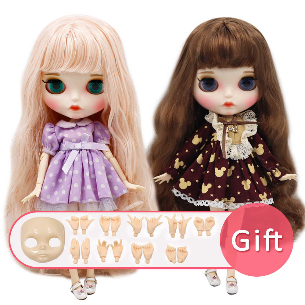 Ледяная Обнаженная кукла blyth нормальное и шарнирное тело с ручным набором AB и Лицевая панель в подарок модная девочка 1/6 BJD кукла