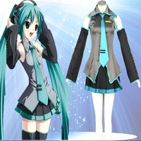 High Quality Custom Made Miku Hatsune Cosplay Costume from Vocaloid Holloween Plus Size (S 6XL)