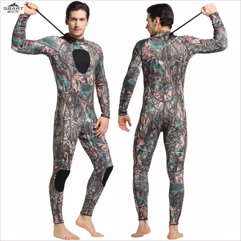 Sbart 1025 Scuba Diving Wetsuit Men 3mm Diving Suit Neoprene Swimming Wetsuit Surf Triathlon Wet Suit Swimsuit Full Bodysuit sbart 2mm neoprene wetsuit men winter keep warm swimming scuba diving wet suit long sleeve triathlon wetsuit for surf snorkeling