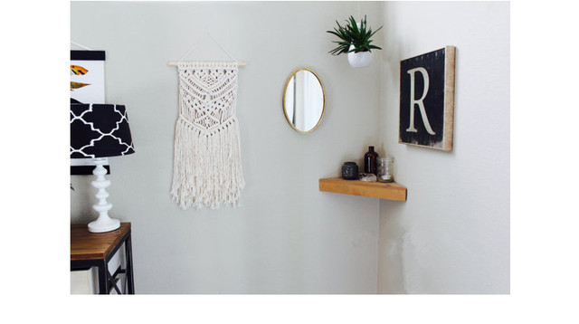 Bohemian Macrame Hand Woven Simple Home Hang   Up Living Room Wall Hanging  Decorations