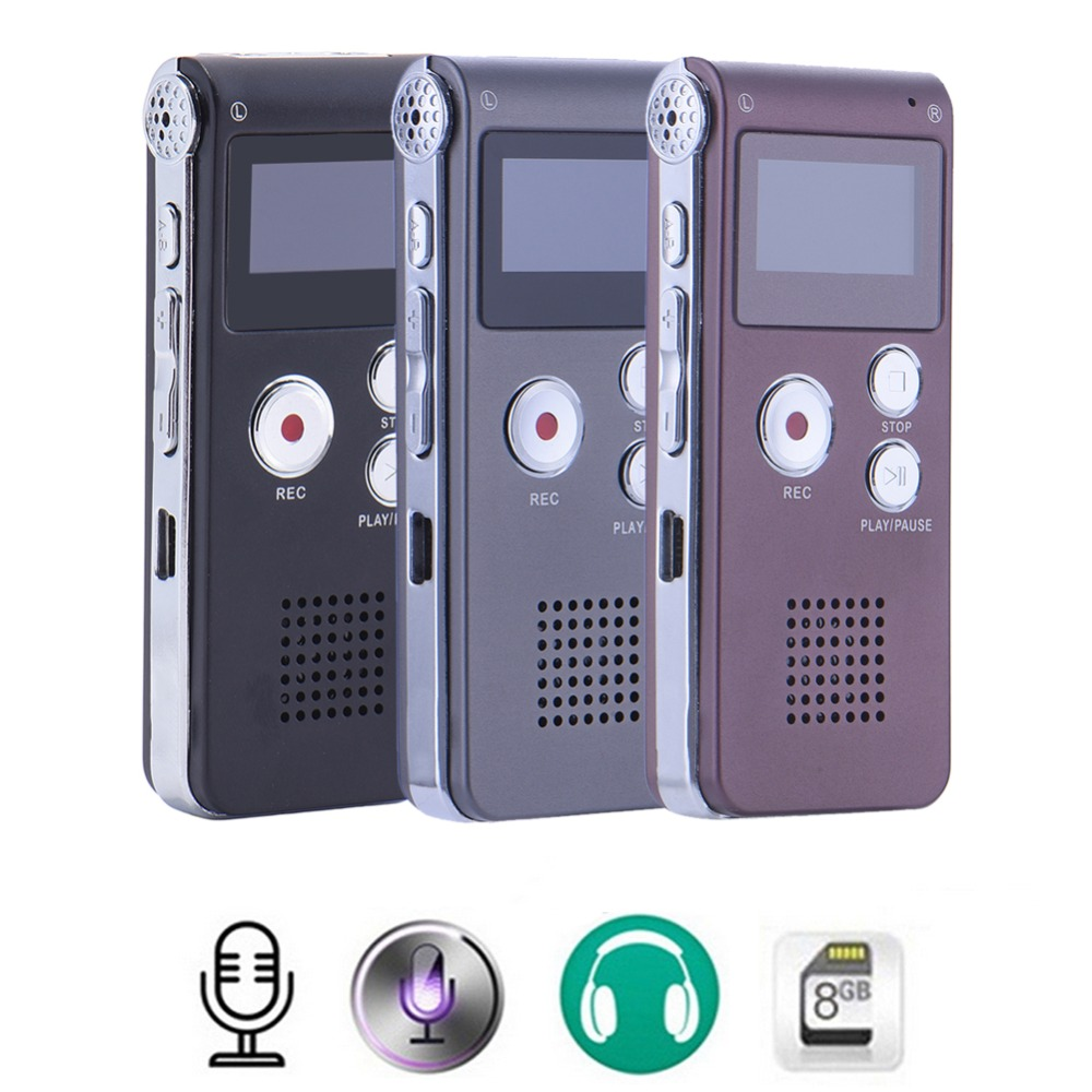 8GB Digital USB Voice Recorder MP3 Dictaphone Recorder Pen Stereo Recording Audio Recorders MP3 player 3 Color