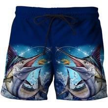 d8bd848ec1 Hot Tuna Funny Casual shorts Full Fish Printing 3D Swimming Trunks Shorts  Cool Summer Bermuda beach