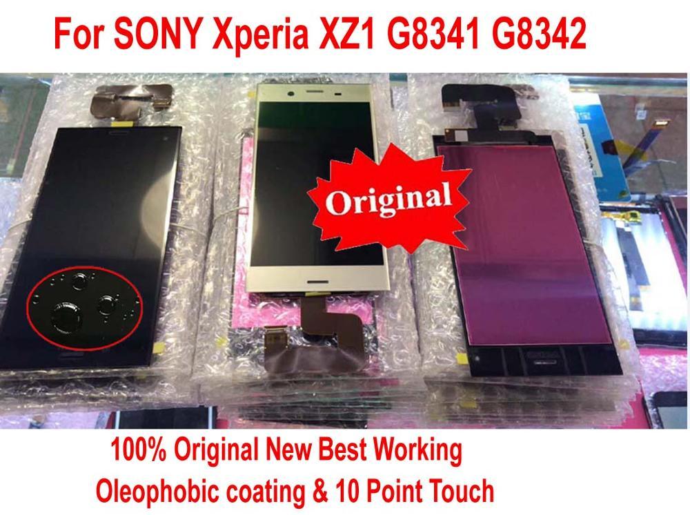 100% Original nouveau capteur de verre IPS LCD affichage 10 écran tactile écran numériseur assemblée pour SONY Xperia XZ1 G8341 G8342 5.2