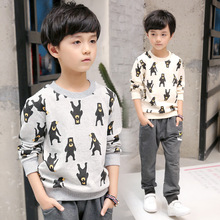 Kids boys spring / autumn lengthy sleeves T-shirt 2017 new child boy clothes monster sample T-shirt three/four/5/6/7/eight/9/10/11/12/13/14