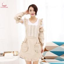 Korean fashion apron pure cotton thickened nail shop coffee milk tea restaurant beauty salon work clothes