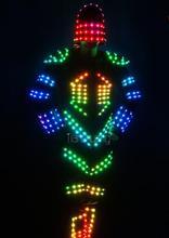 LED performance luminous electronic dance clothing luminous clothing men glow performance props fluorescent dance