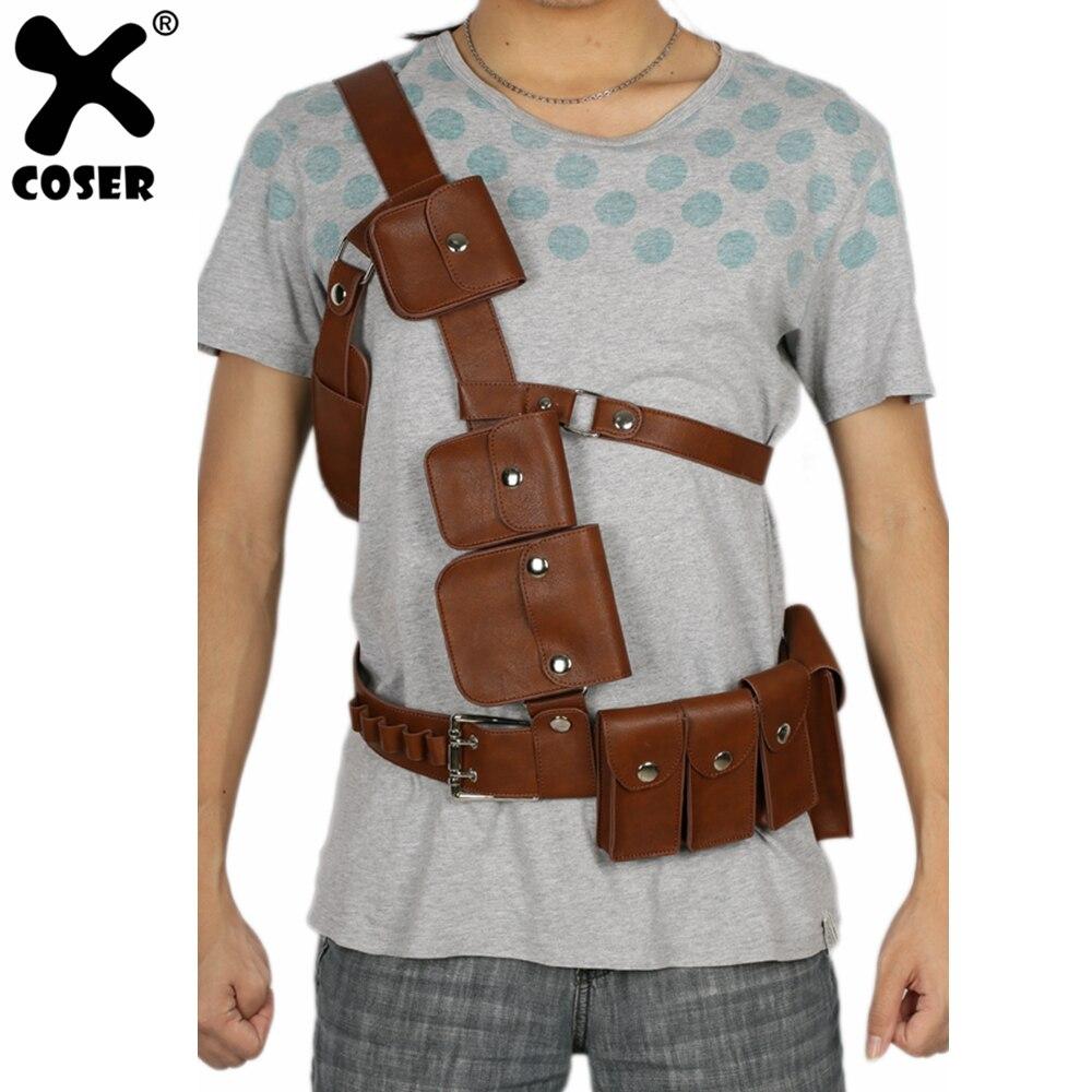 XCOSER Fallout 4 одиночный ремень для выживания с ремешком для игры косплей реквизит Хэллоуин косплей костюм аксессуары PU ремни для мужчин мужские