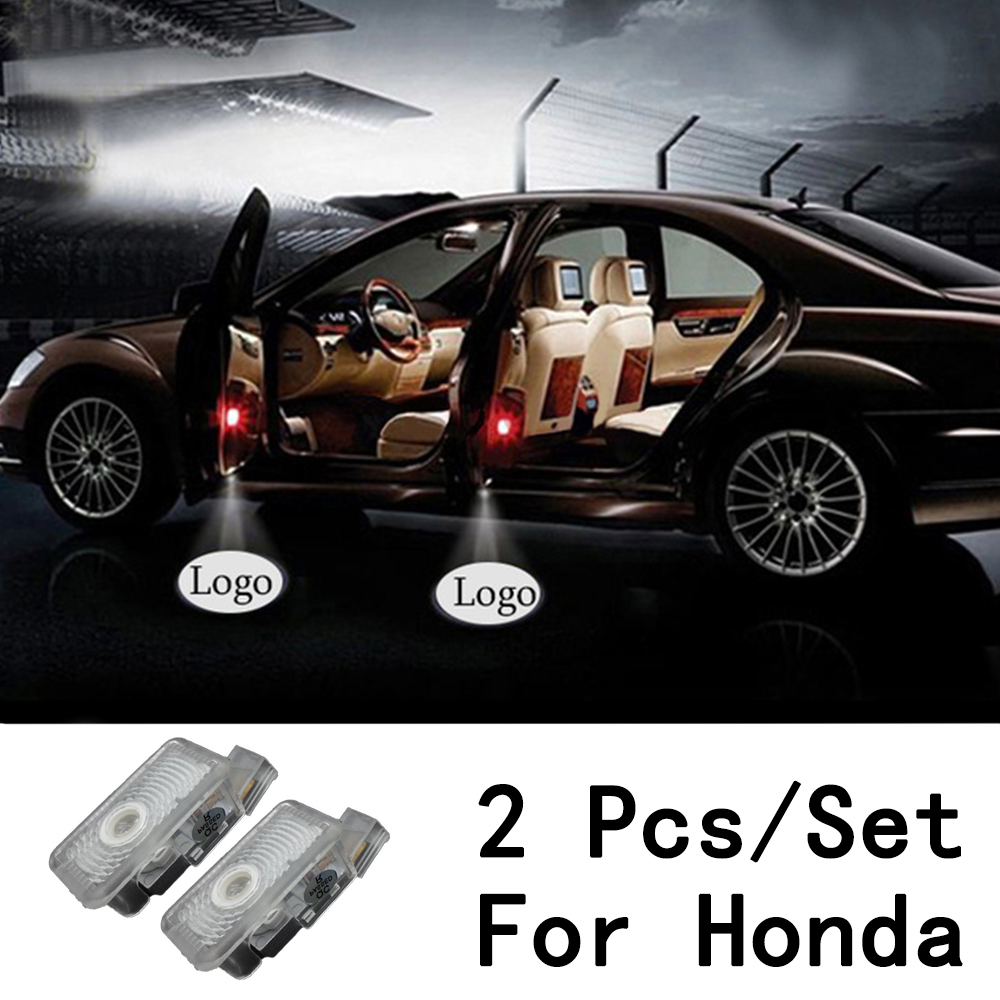 LED Courtesy 2Pcs/Set With Logo Lens Include 3W Only For Honda/Acura/MDX/ZDX/TL/RLX Ghost Shadow Projetor