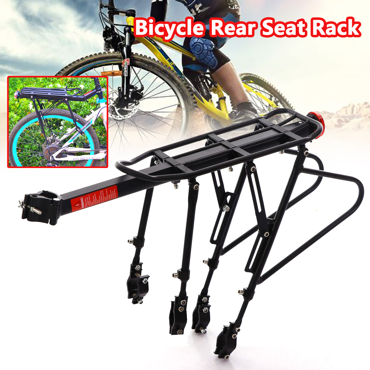 Aluminum Alloy Bicycle Racks Bicycle Luggage Carrier Seat Shelf Bracket MTB Bicycle Mountain Road Bike Rear Rack 50kg 2018 bike luggage cargo rear rack can be acted as power bank useful bicycle rear carrier racks new bicycle accessories