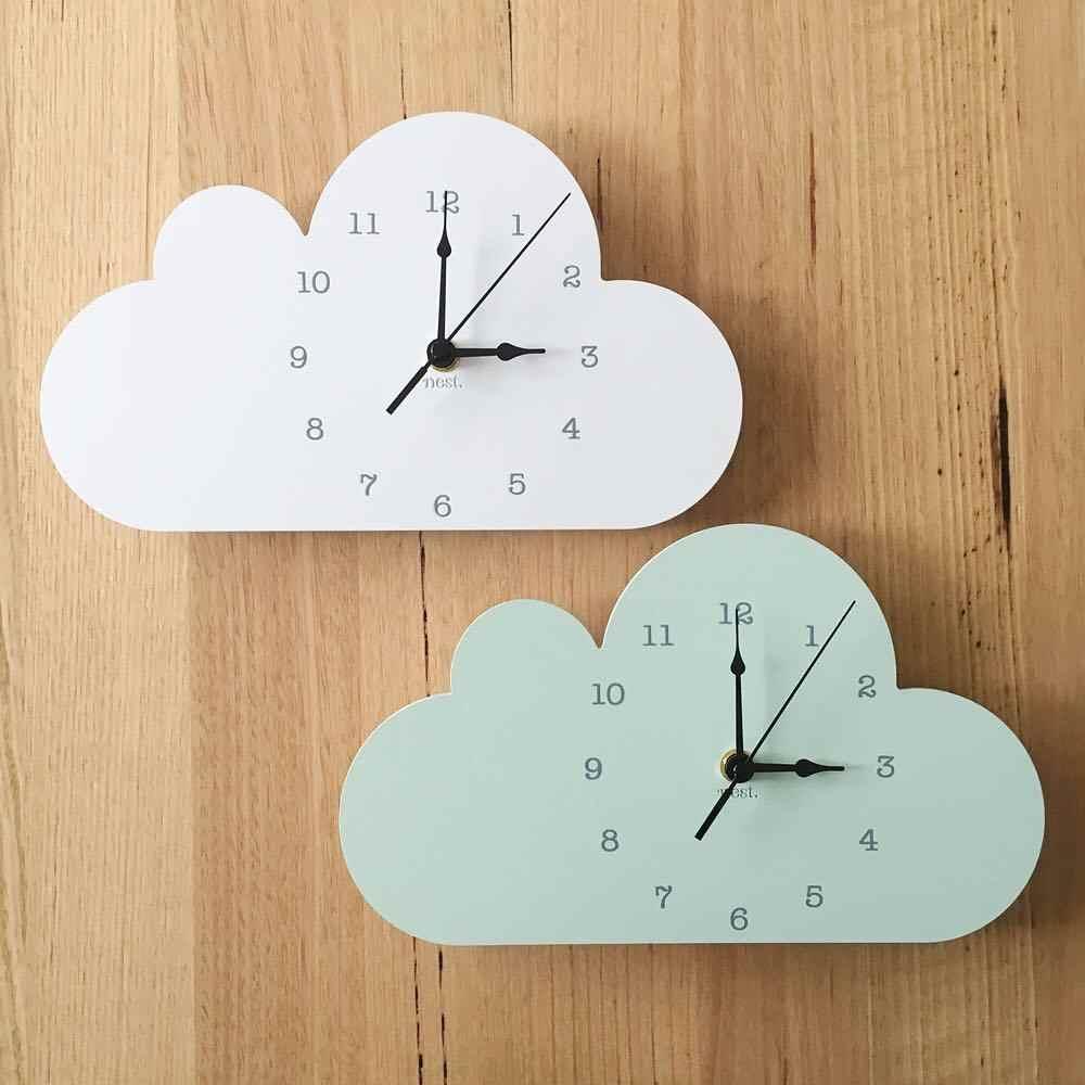 Accessoire Chambre D Enfant nordique mignon nuage éléphant forme horloge murale
