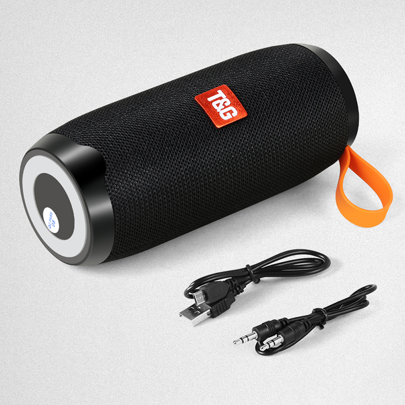 New Portable Column Speaker Waterproof Bluetooth Speaker Outdoor Bicycle Subwoofer Bass Wireless Speakers Loudspeaker FM TF in Portable Speakers from Consumer Electronics