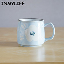 INMYLIFE Japanese Hand-Painted Ceramic Cup Office Mugs Coffee Mugs Milk Mugs Tea Cups Home Cups Friend's Gift 8.5oz