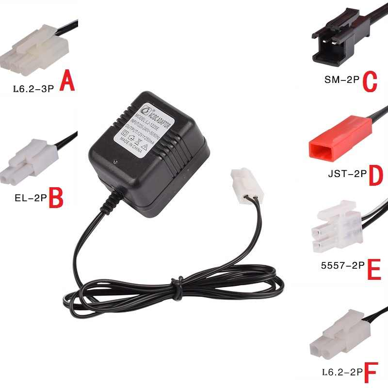 12V 250mA SM 2P JST L6.2-2P L6.2-3P Charger Adapter For RC Helicopter Quadcopter Toys Car Model Truck Spare Parts