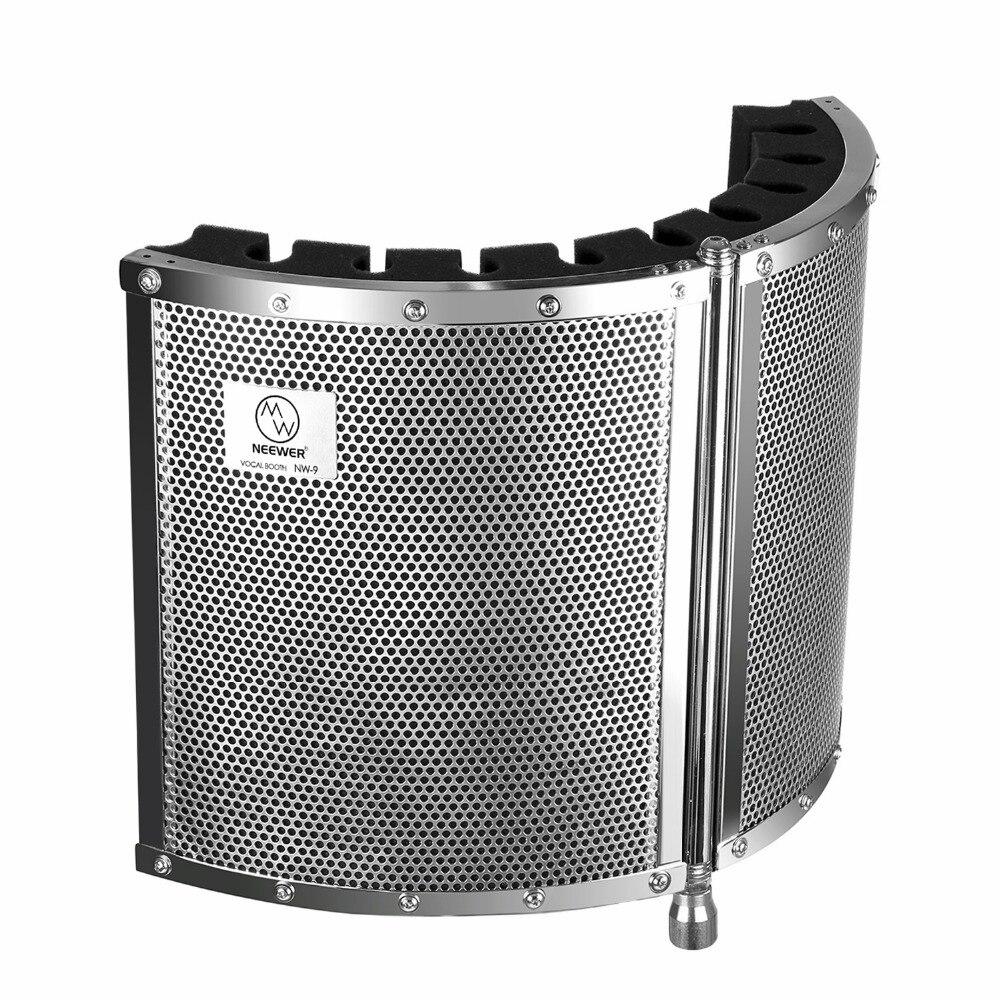 Neewer складной микрофон Акустическая изоляция щит с легкий металлический сплав акустические пены монтажные кронштейны и винт