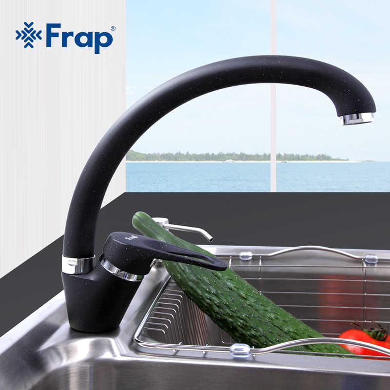 Frap Fashion Arc Keran Wastafel Dapur 5 Warna Kuningan Mixer Satu Pegangan Keran Mixer Air Keran Keramik Spool Keran f4113