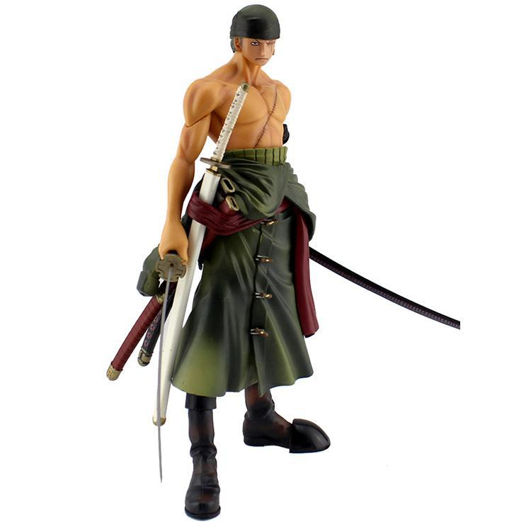 Cool 10 One Piece Roronoa Zoro PVC Action Figure Toys Boxed 25CM Banpresto Collection Model Gift Free Shipping brand new portrait of pirates one piece roronoa zoro 23cm pvc cool cartoon action figure model toy for gift kids free shipping