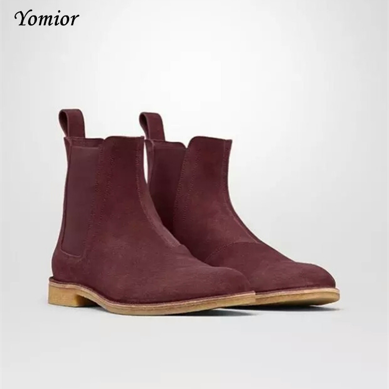 Handmade Men Chelsea Boots Vintage Casual Boots All-matching Kanye - Men's Shoes - Photo 4