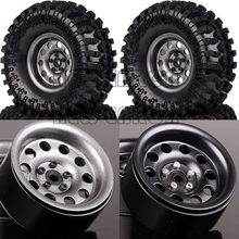 "NEW ENRON 4P Metal 2.2"" Beadlock Wheel Rims Hub & 125mm Tires for RC 1/10 Rock Crawler Car Axial HPI SCX10 II YETI Traxxas Trx4"
