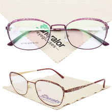 67118 micro butterfly shape fullrim metal luxury burnt flower colorful pattern progressive prescription trendy glasses for women