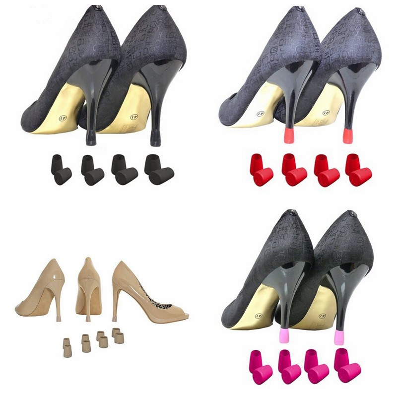 Nyacinth 1 Pairs (XS,S,M,L) High Stiletto Heeled High Heel Protectors Heel Stoppers Shoes Covers Caps For Lawn Wedding Party