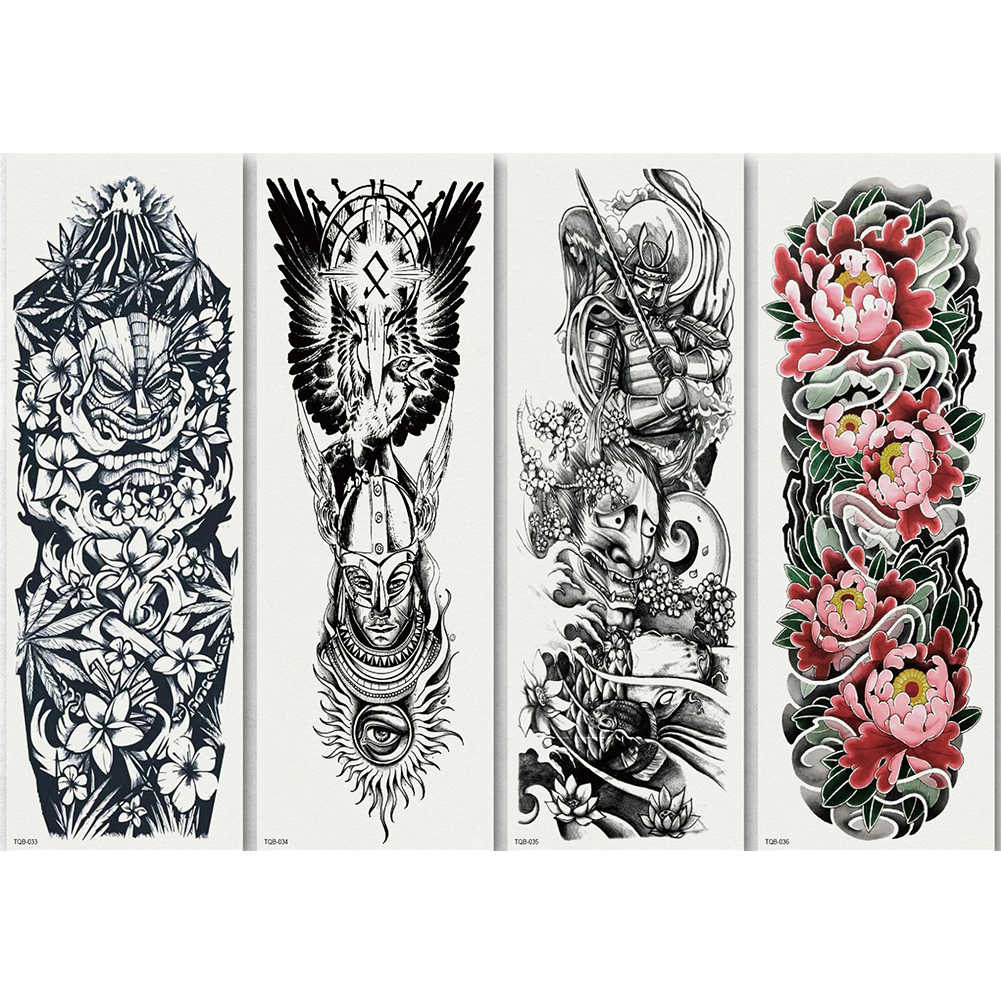 7f1d45fc8 ... Temporary Tattoo Sleeve Designs Full Arm Waterproof Tattoos For Cool  Men Women Transferable Tattoo Stickers Body ...