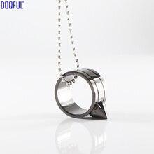 Стеклянный выключатель палец кольцо-шарик цепи защитное ожерелье кулон самообороны крутая игра на открытом воздухе выживания женщин защитное оружие
