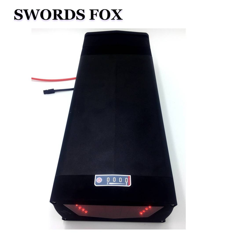 SWORDS FOX 36V 10AH Electric Bike Battery 350W 500W 36V 11AH E-bike Battery 36V 10.4ah Rear Rack Battery with 15A BMS image