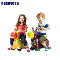 swestest gift thick increase Children's inflatable toys jumping horse Maccabees environmental music baby toys ship random color