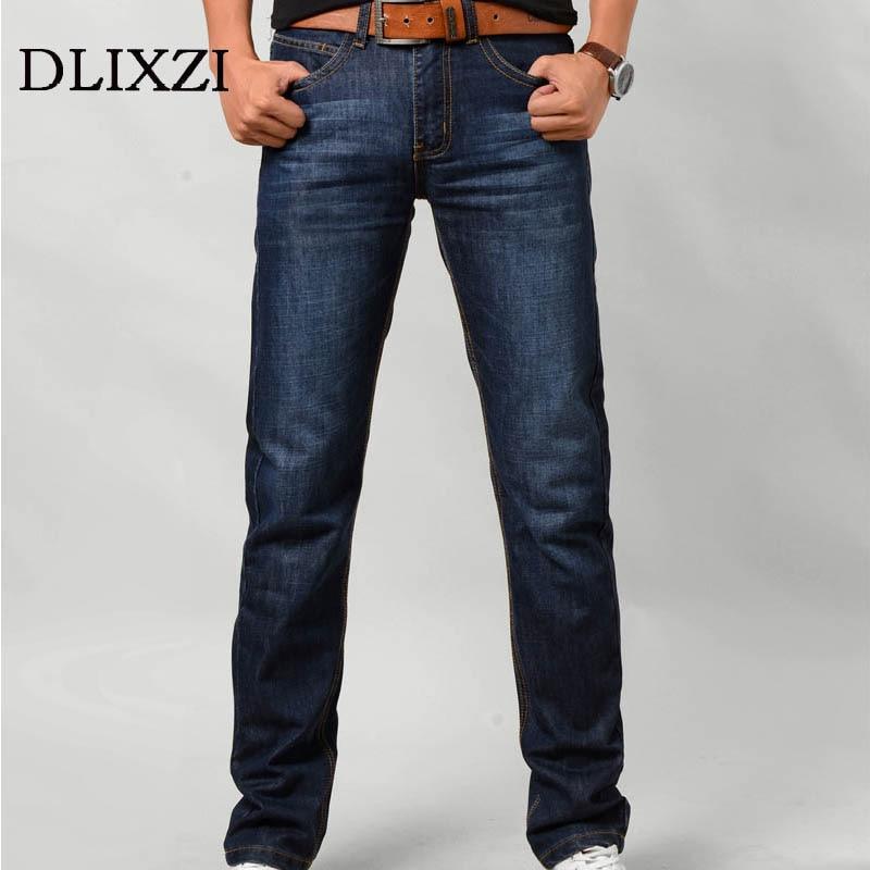 DLIXZI men slim Jeans straight denim male trousers pants