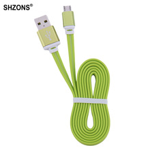 100cm Noodle Micro USB Cable Charge & Sync Data Cord for Samsung S6 S7 Note 7 for Android Phone Light in Dark Charger Cable X177