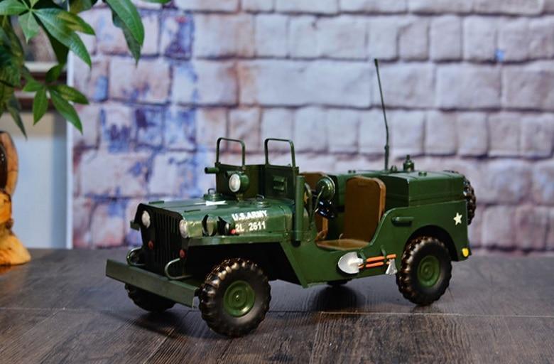 ФОТО Retro Military Vehicles Car Double Model Truck Antique Crafts Cafe Bar KTV Adornment