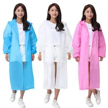 Non-disposable raincoats Men and women thickening scrub EVA raincoat transparent adult poncho