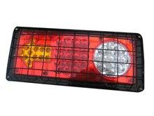 2Pcs 33LED Car Rear Warning Lamp 24V Truck Trailer Tail Lights Stop Turn Signal Light Reverse 35CM